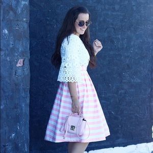 Dresses & Skirts - Pink striped skirt